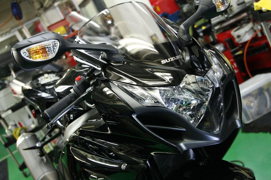 GSX‐R1000コーティング後の光沢 グラススパークルブラックの艶