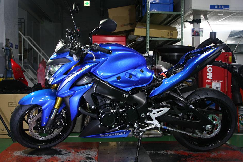 GSX‐S1000のバイクコーティング後