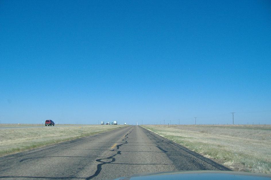 Bild: Im Ford Mustang auf dem Highway