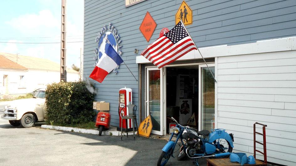 Bild: US-Schilder in Frankreich