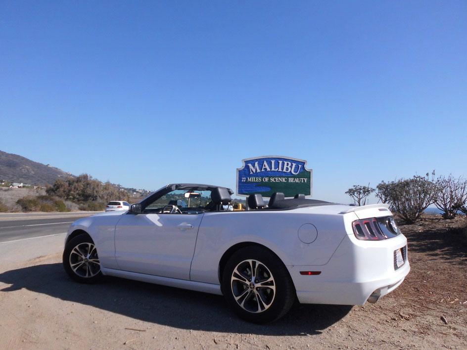 Bild: Mustang meets Malibu. Eine tolle Straße von LA nach San Francisco (und natürlich noch weiter): Der Highway One