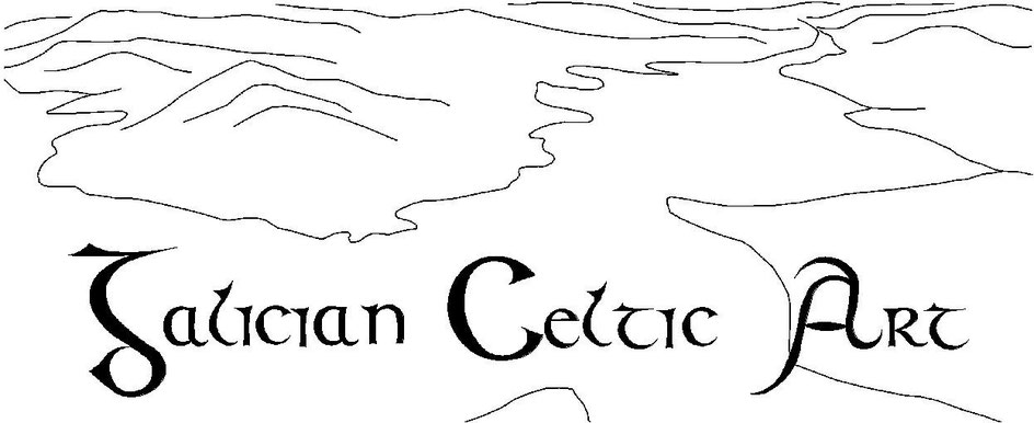Galician Celtic Art. Galicia. Arte Castreña, Castrexa, Celta, Celtic. Pottery, cre´mica, ink drawing, dibujo a tinta, stone sculpture, escultura en piedra