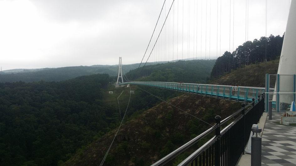 長さ日本一の吊り橋!
