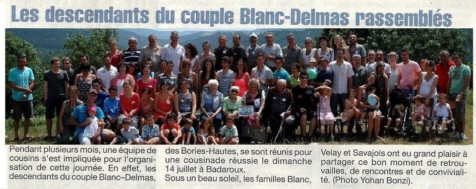 Article paru sur la Lozère Nouvelle du 26/07/2013