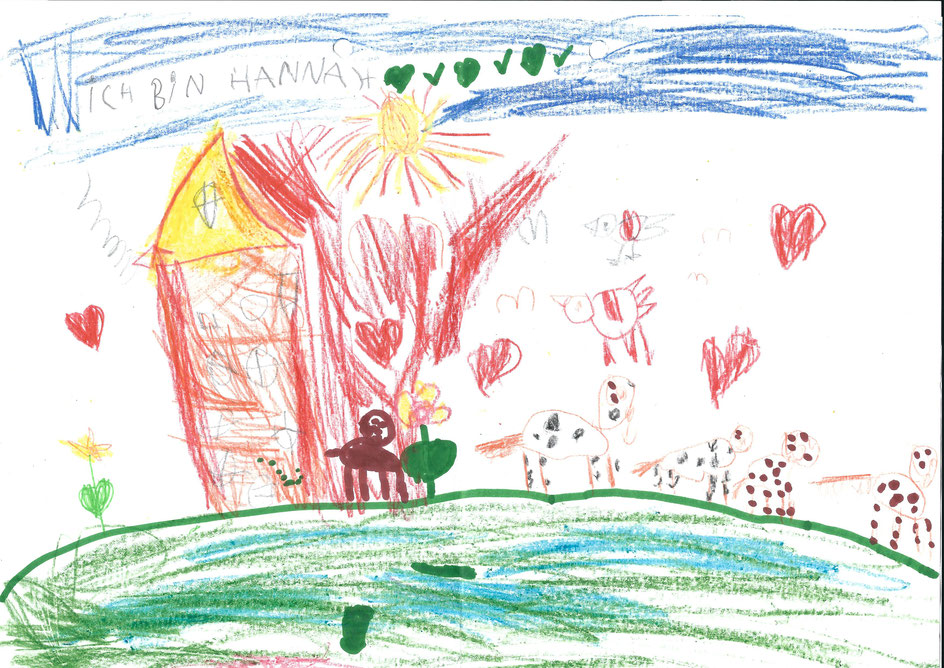 Hannah hat ihre Erlebnisse am Belauer See festgehalten.