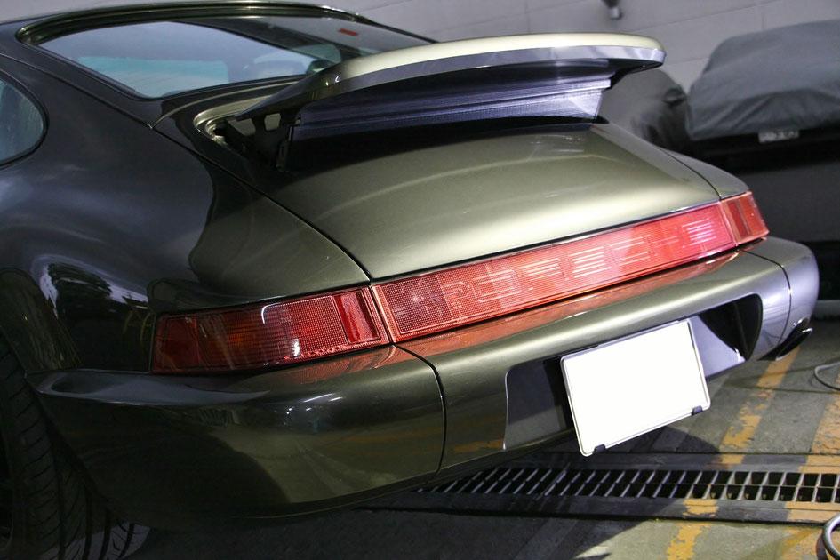 ポルシェ964のボディカバーの傷除去後 埼玉