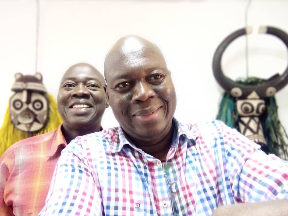 I gemelli Ouattara nel loro atelier