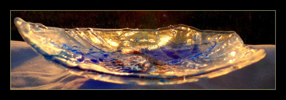 Meine Interpretation: Licht - Glas - Schale