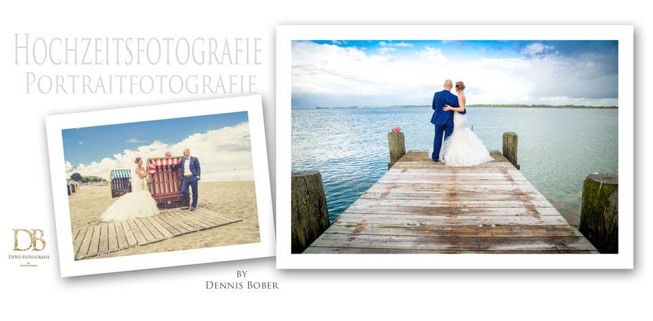 Hochzeit in Travemünde am Strand bei der Villa Mare, Hochzeitsfotograf Dennis Bober von DeBo-Fotografie, Hochzeitsfotos und Hochzeitreportagen.
