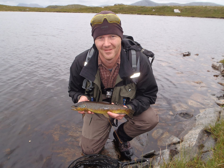 Dry fly caught hill loch brownies. What could be better?