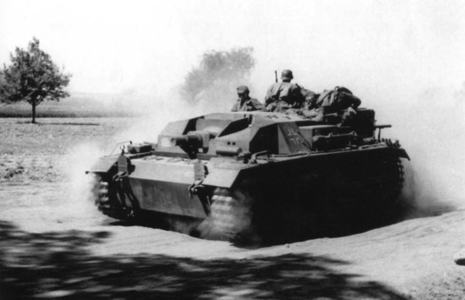 Premier version du StuG III, armé d'un canon court de 75 mm