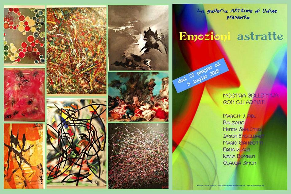 "Gruppenausstellung Galleria ARTtime in Udine: ""Emozioni Astratte"", 23.06. - 05.07.2018"