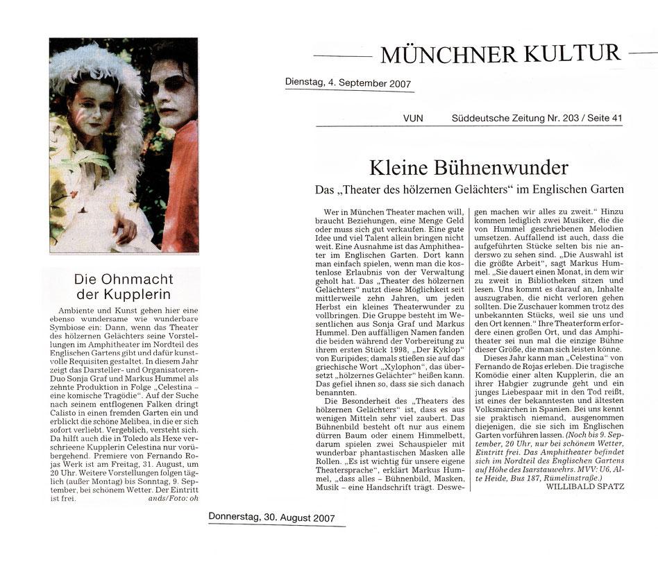 """""""Celestina"""", SZ, 30.08. und 04.09.2007"""