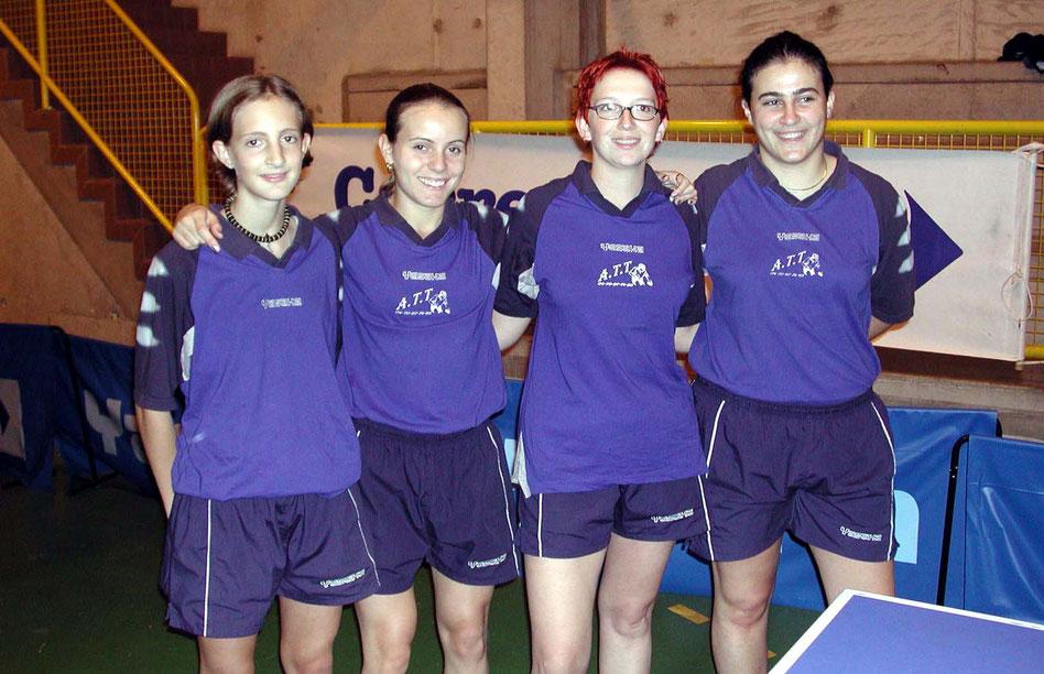 Equipe Filles N1 en 2003