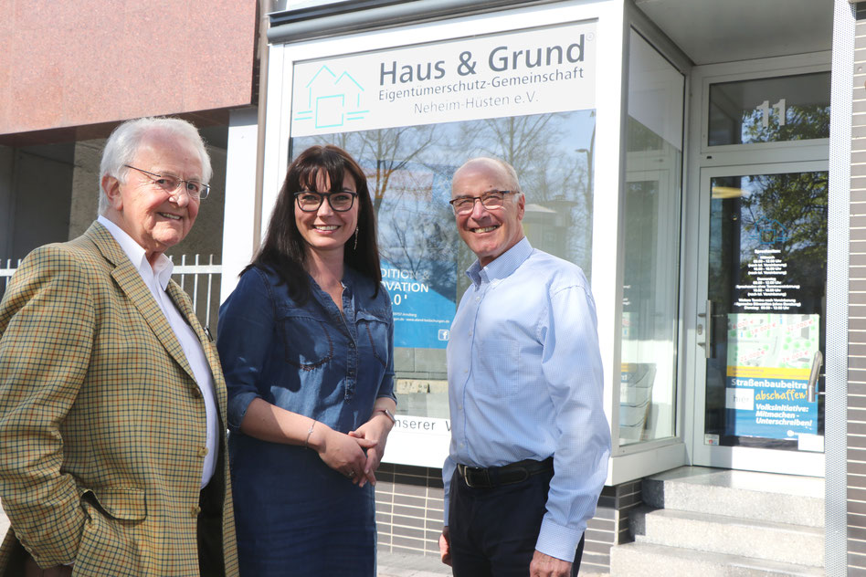 (v.l.) Gerd Schulte, Tatjana Schefers, Wilfried Gothe