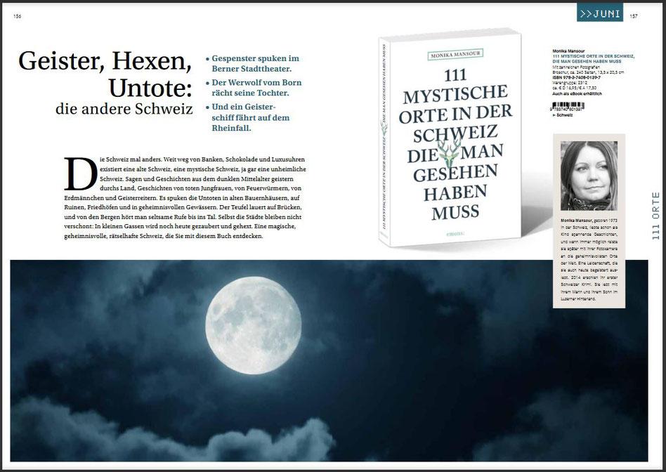 111 mystische Orte in der Schweiz, Monika Mansour