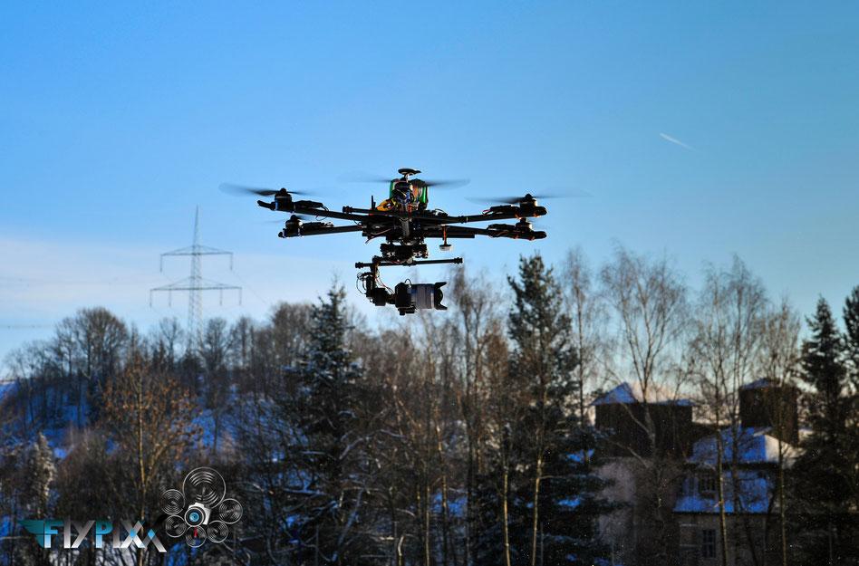 Drohne Kamera Flug Hexakopter DJI Sony