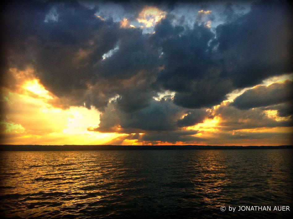 DER AMMERSEE - von seiner schönsten Seite, im Sonnenuntergang!