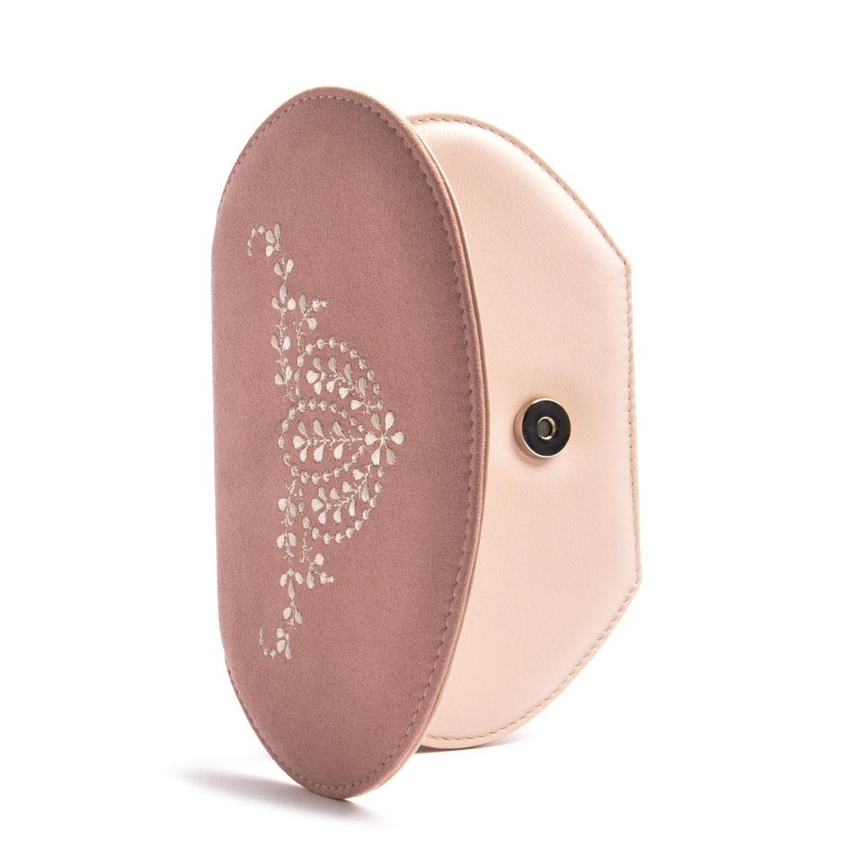 Dirndltasche ANNA rose Leder online versandkostenfrei kaufen OSTWALD Traditional Craft
