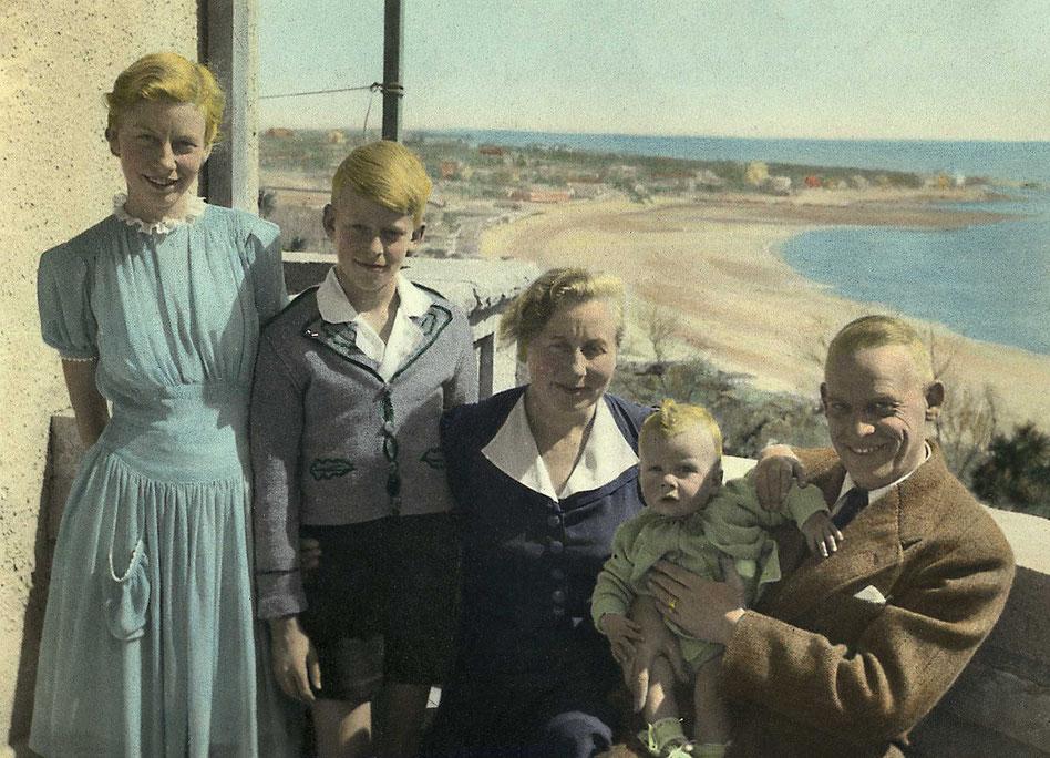 Familienfoto Dierk Nauert Tsingtao 1942