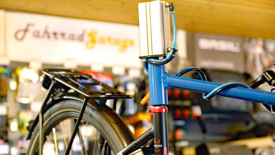 Werkstatt Fahrrad Garage - Bike auf Montageständer