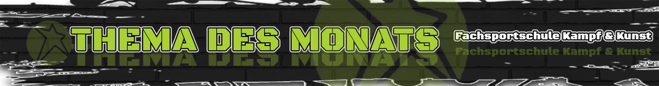 Banner unseres Kampfsport Blogs & der Zusammenfassung - Thema des Monat 2019