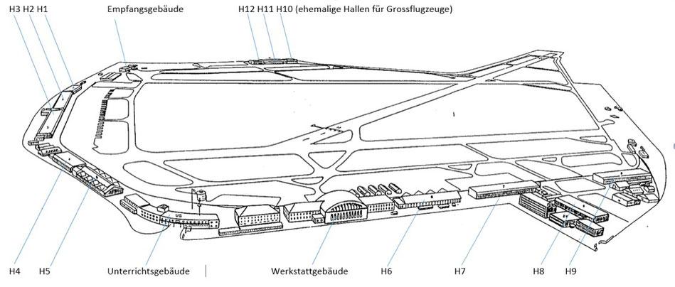 Militärflugplatz Dübendorf: schutzwürdiges Ensemble (Weltkulturerbe)   Quelle: The 7 Most Endangered, Europanostra