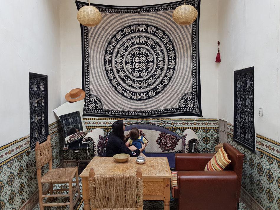 Unsere erste Unterkunft - Airbnb in Marrakesch