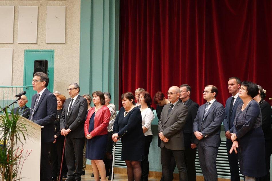 Michel Courteaux a présenté ses vœux entouré de l'équipe municipale.