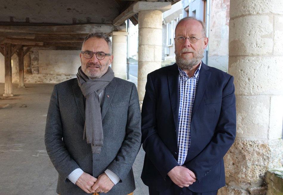 De gauche à droite : Dominique Moyse et Jean-Michel Wallerand forment le binôme qui conduira une liste à l'élection municipale.