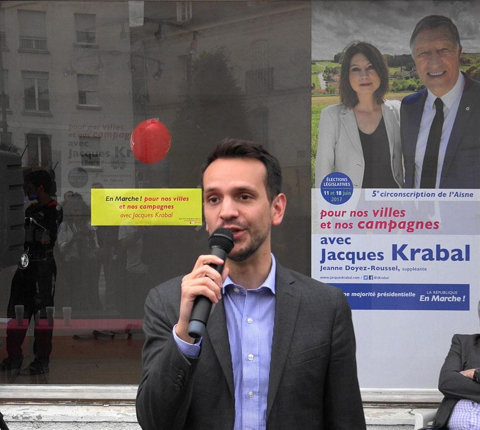 Sébastien Eugène fut le directeur de campagne de Jacques Krabal lors des législatives 2017.