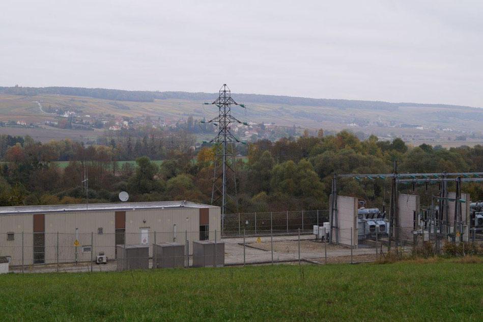 Le poste source EDF de Dormans dans la Marne.