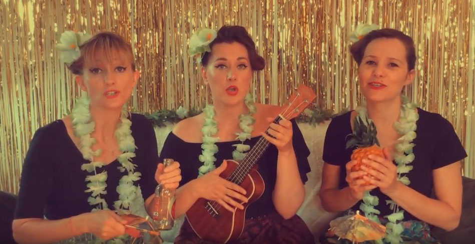 The Tiki Sisters. Capture YouTube.