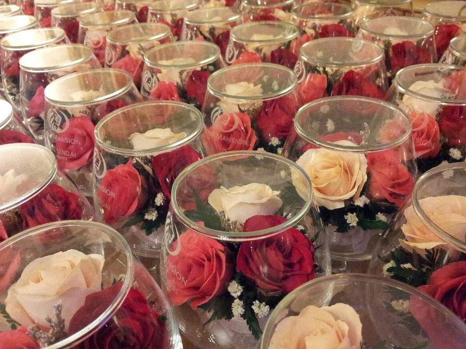 名入れ彫刻 プリザーブドフラワー ドライフラワー 記念品 プレゼント 誕生日 母の日 バラ ガラスアート