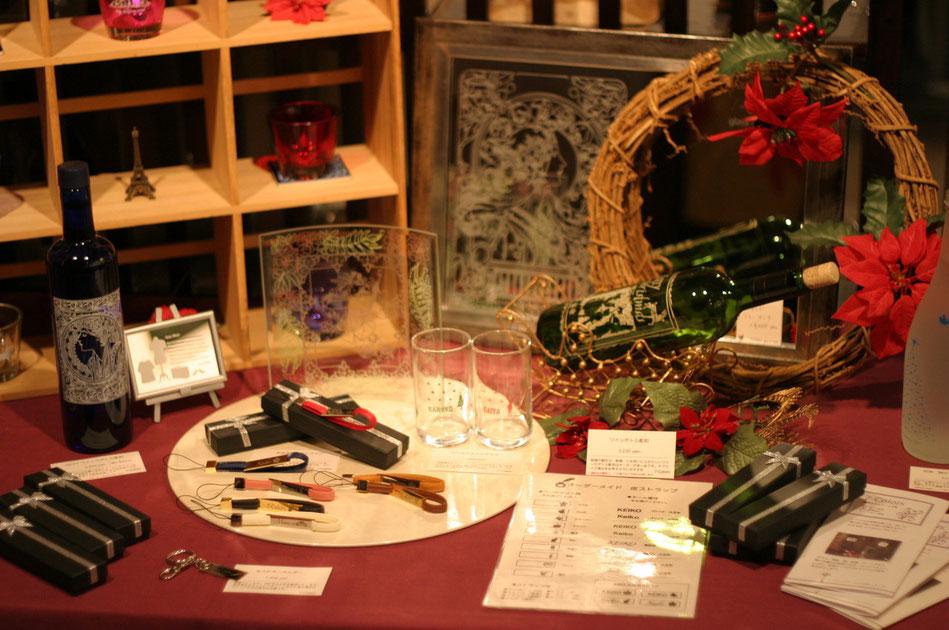 クリスマス名入れプレゼント製作体験教室 7-Colors鶴岡ガラスアート工房
