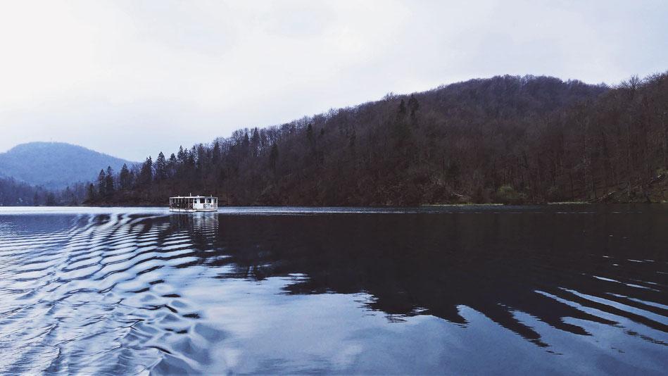 bigousteppes parc lac bateau plitvice