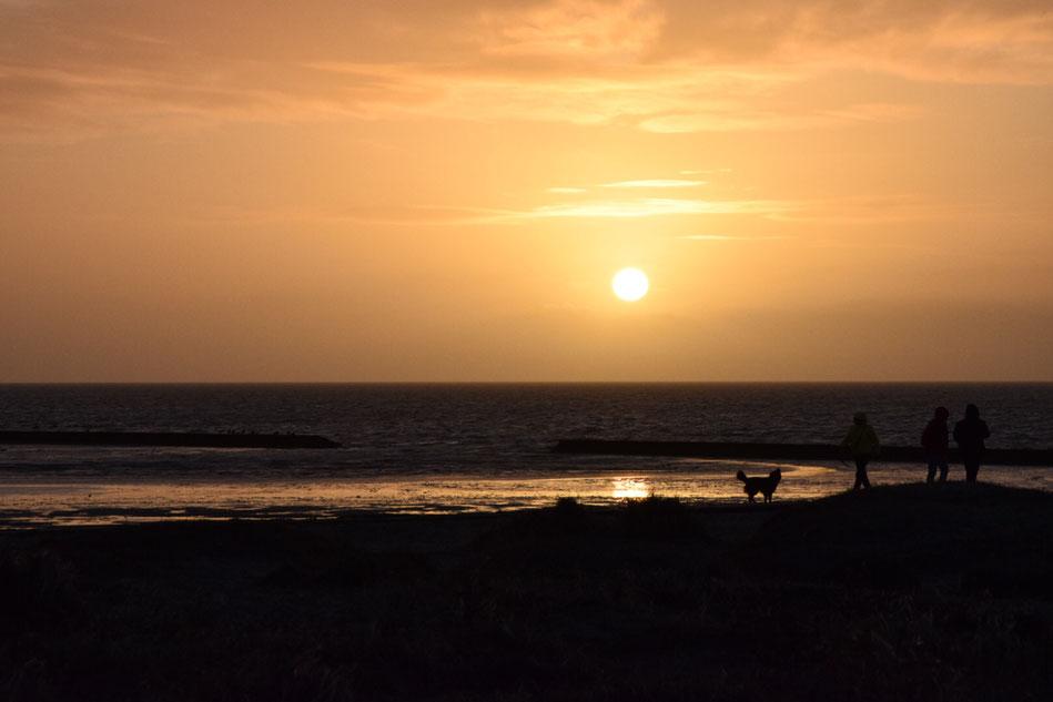 An der Nordsee.