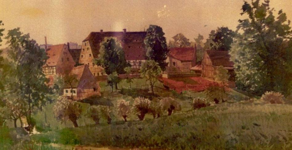 Steigergut, Nössige, Gemälde in Privatbesitz