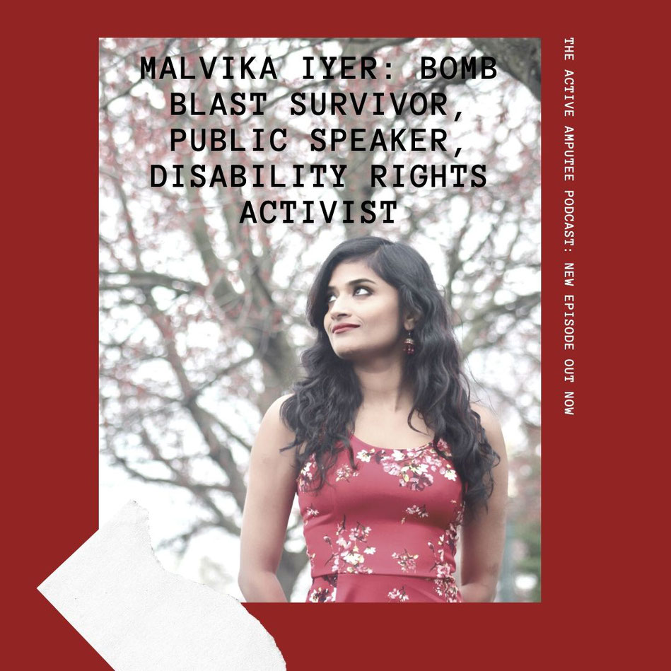 Episode 6 of The Active Amputee Podcast is out (picture courtesy of Malvika Iyer)