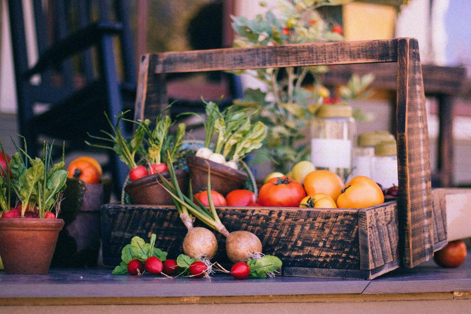 Lebensmittel nachhaltig online im Korb liefern lassen