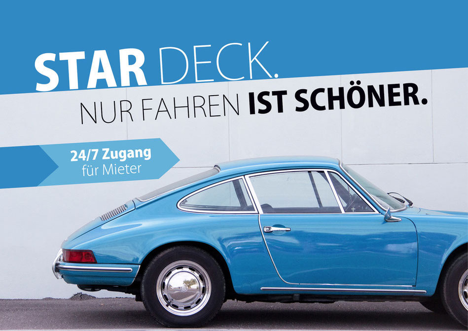 Star Deck: die Oldtimer Garage in Hamburg Barmbek bietet dir einen sicheren Stellplatz für deinen Sportwagen, Youngtimer oder Motorrad.
