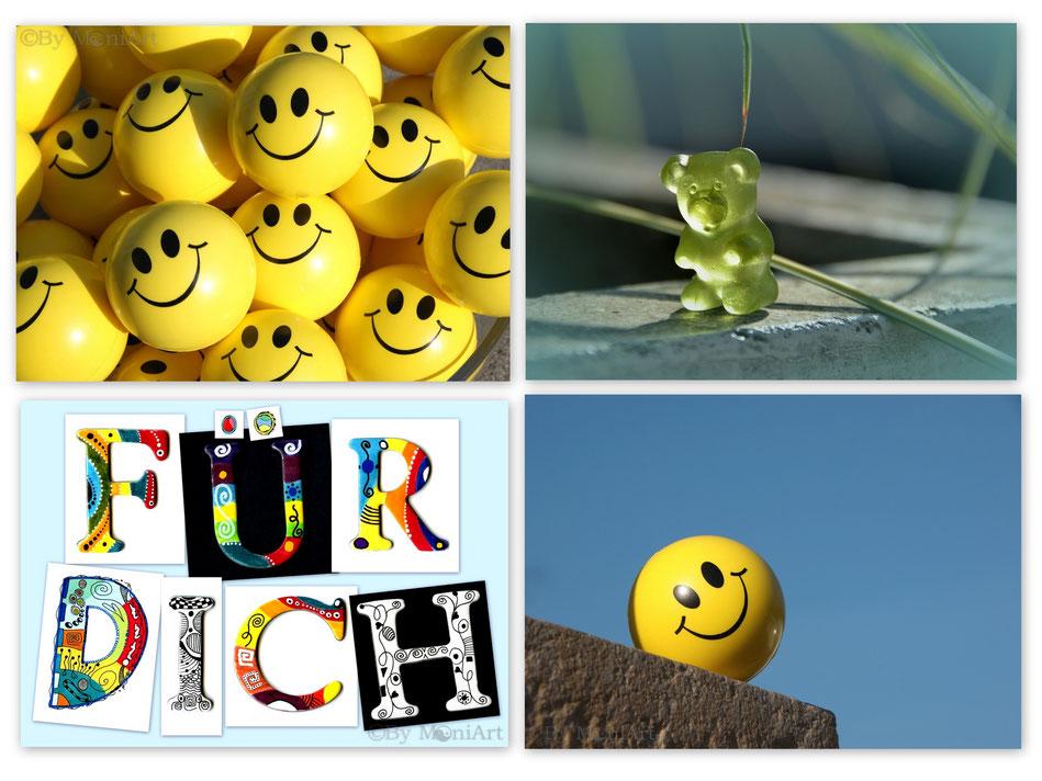 Postkarten Kunstkarten Smile Karten Freude Natur Handlettering Schriften