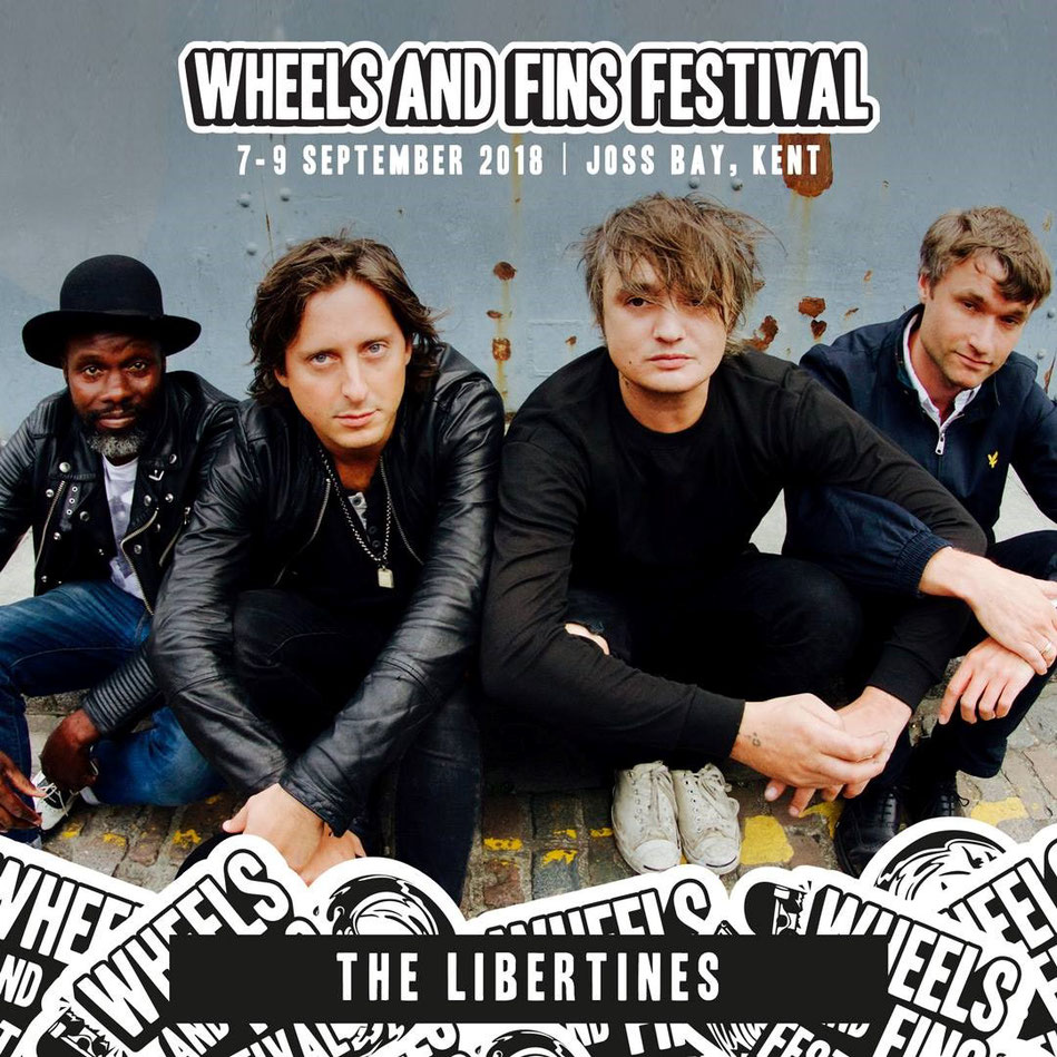 Wheels and Fins Festival 7 - 9 September 2018, Joss Bay, Broadstairs Kent, The Libertines, image on Broadstairs Apartments accomodation inspiration blog