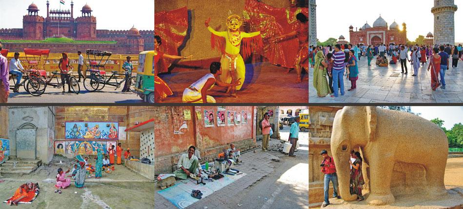 Delhi_ Rotes Fort ' Habitat Centre | Agra_ Taj Mahal Mosque | Varanasi | Gwalior | Mahabalipuram_ The Five Rathas _Tamil Nadu