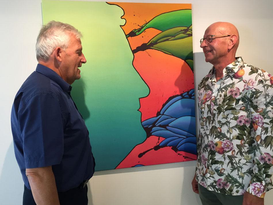 Hans Stöckli, Ständerat BE, zu Besuch in der Galerie mnart, 22. September 2019