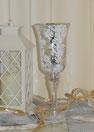 Fleur - Champagne Silber Kelch auf Fuß