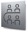 Piktogramm Konferenzraum konturgeschnitten in Aluminium