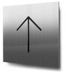 Piktogramm Pfeil nach oben konturgeschnitten in Edelstahl