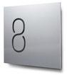Nummern beginnend mit 8... konturgeschnitten, in Aluminium