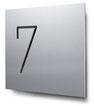 Nummern beginnend mit 7... konturgeschnitten, in Aluminium
